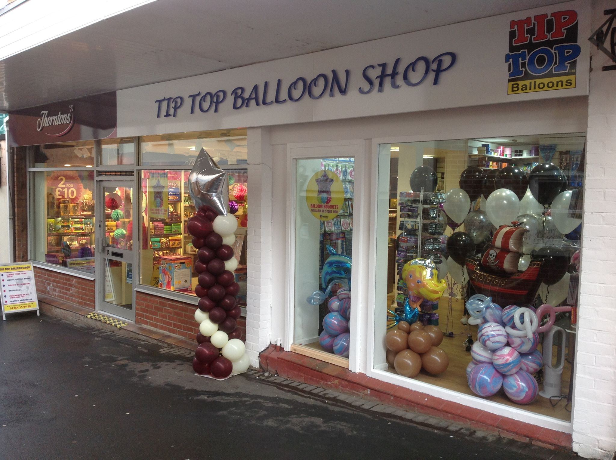 TipTop Balloons, 1A and 1B Union Street, Andover, Hampshire, SP10 1PA, United Kingdom